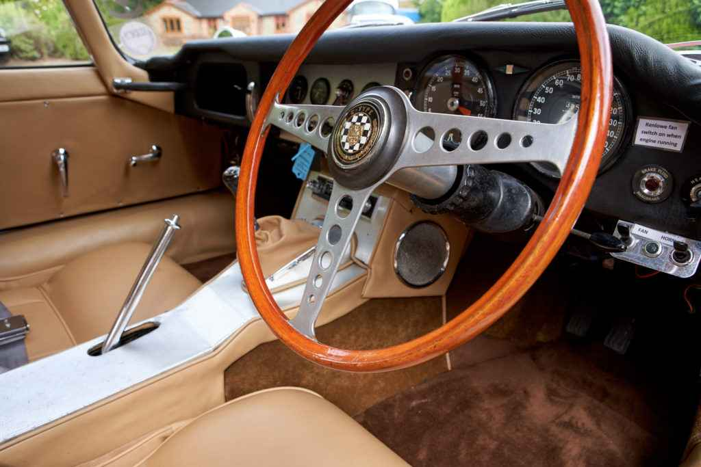 jaguar e type interior