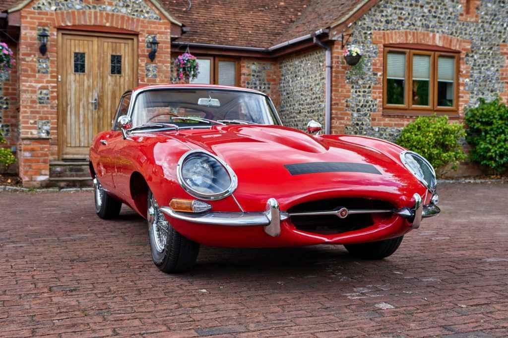jaguar e type front